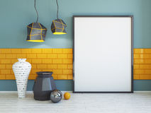 Interior mockup 3d Stock Images