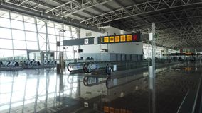 Interior of modern airport. View of interior of modern airport stock video footage