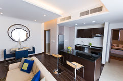 Interior of modern apartment Stock Photos