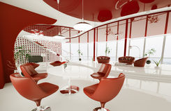 Interior of modern apartment 3d render Royalty Free Stock Photography