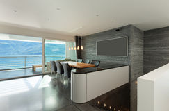 Interior, modern apartment. Architecture, Interior, modern apartment, wide dining room royalty free stock photos