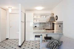 Modern House, apartment. Interior of modern apartment, kitchen royalty free stock image