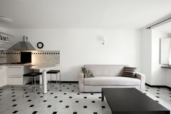 Modern House, apartment. Interior of modern apartment, kitchen royalty free stock images