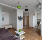 Interior of modern apartment in scandinavian style Stock Photography