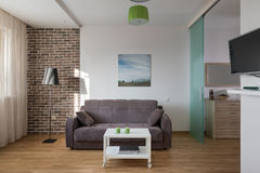 Interior of modern apartment in scandinavian style Royalty Free Stock Photos