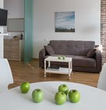 Interior of modern apartment in scandinavian style Stock Images