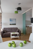Interior of modern apartment in scandinavian style Royalty Free Stock Photography