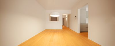 Interior of modern apartment, empty room stock photo