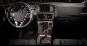 Interior of a modern automobile Royalty Free Stock Photography