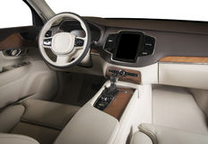 Interior of a modern automobile Stock Images