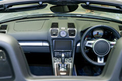 Interior of a modern automobile showing the dashboard Royalty Free Stock Image