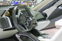 Interior of a modern automobile showing the dashboard Royalty Free Stock Photos