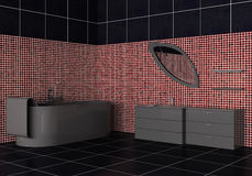 Interior of a modern bathroom Stock Images
