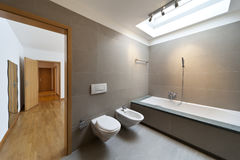 Interior, modern bathroom Royalty Free Stock Images