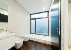 Interior modern bathroom Royalty Free Stock Images