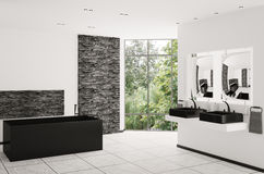 Interior of modern bathroom 3d render Stock Images