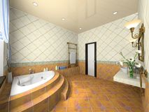 Interior of the modern bathroom Stock Photos