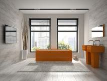 Interior of modern bathroom 3D rendering Royalty Free Stock Image