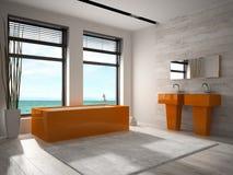 Interior of modern bathroom 3D rendering Stock Images