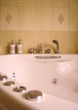 Interior of modern bathroom with jacuzzi Stock Photos