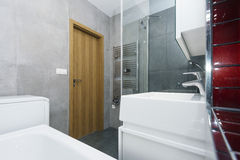 Interior of modern bathroom Stock Photos