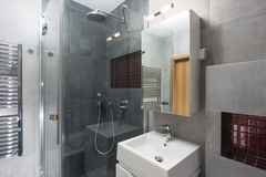 Interior of modern bathroom Stock Images