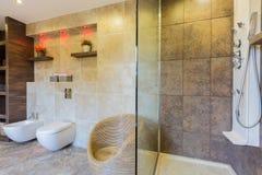 Interior of modern bathroom Royalty Free Stock Image