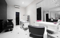 Interior of modern beauty salon Stock Image
