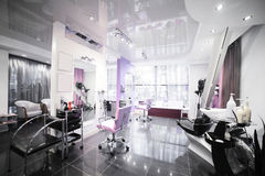 Interior of modern beauty salon Royalty Free Stock Photos