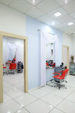 Interior of modern beauty salon Stock Images