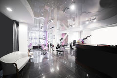 Interior of modern beauty salon Stock Photos