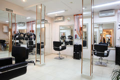 Interior of modern beauty salon Stock Image