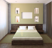 Interior of modern bedroom. Stock Images