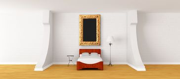Interior of modern bedroom Royalty Free Stock Photography