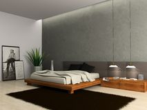 Interior of modern bedroom Stock Image