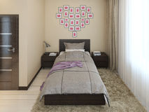 Interior of a modern bedroom Royalty Free Stock Image