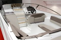 Interior of a modern boat. Interior of a modern pleasure boat Royalty Free Stock Image