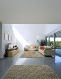 Interior modern brick house Stock Photography