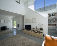Interior modern brick house Stock Photos