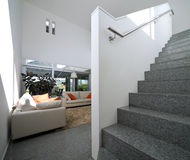 interior modern brick house Royalty Free Stock Photography