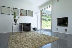 interior modern brick house Royalty Free Stock Photo