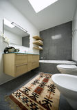 Interior modern brick house Stock Photo