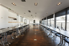 Interior of a modern bright conference room Stock Image