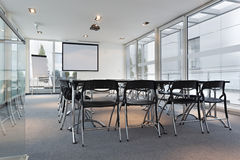 Interior of a modern bright conference room Royalty Free Stock Image
