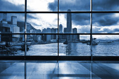 Interior of modern building in Hong Kong Royalty Free Stock Image