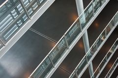 Interior of a modern building with several floors Royalty Free Stock Image