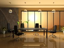 Interior of the modern cabinet Royalty Free Stock Image