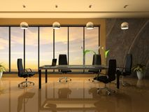 Interior of the modern cabinet Royalty Free Stock Images
