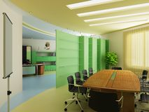 Interior of a modern cabinet Royalty Free Stock Photo