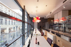 Interior of a modern cafe Royalty Free Stock Images